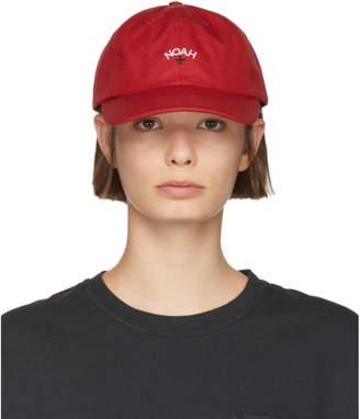 Noah NYC Red Water-Repellent Logo Cap