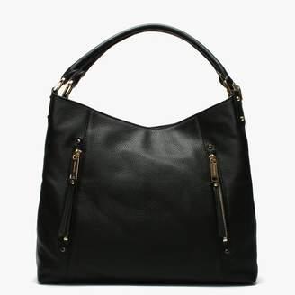 Michael Kors Large Evie Black Leather Shoulder Tote Bag