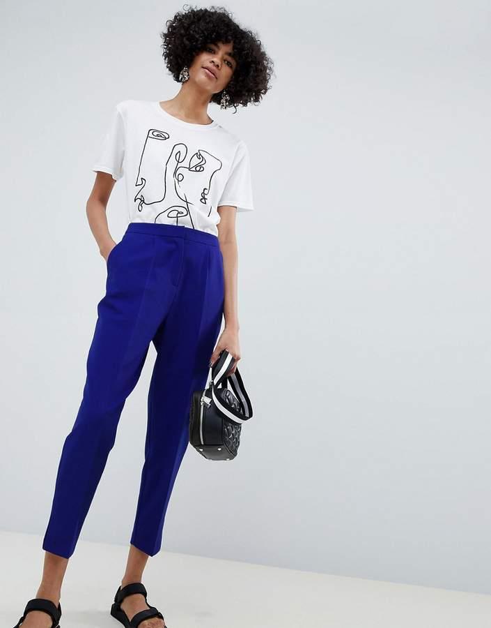 ASOS DESIGN slim cobalt pants