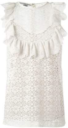 Stella McCartney flounce sleeveless blouse