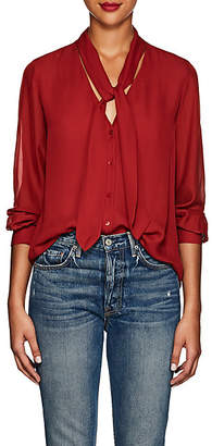 L'Agence Women's Gisele Silk Blouse - Red