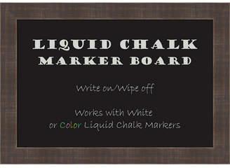 Amanti Art Whiskey Brown Rustic 20x14 Framed Liquid Chalk Marker Board