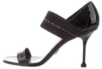 Prada 2018 Patent Leather Mary Jane Sandals
