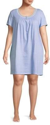 Carole Hochman Plus Printed Cotton Sleepshirt
