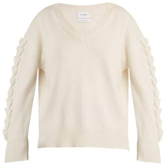 Barrie - Troisieme Dimension V Neck Cashmere Sweater - Womens - Cream