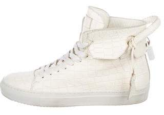 Buscemi 125MM Embossed Leather High-Top Sneakers