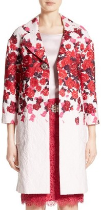 Women's St. John Collection Mira Floral Jacquard Topper $2,295 thestylecure.com