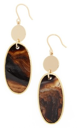 Women's Nordstrom Semiprecious Stone Double Drop Earrings $49 thestylecure.com