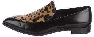 Prada Leopard Print Leather Loafers