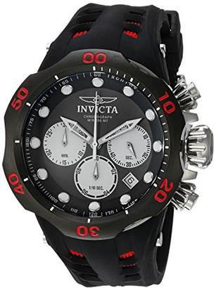 Invicta Men's 'Venom' Quartz Stainless Steel and Silicone Casual Watch