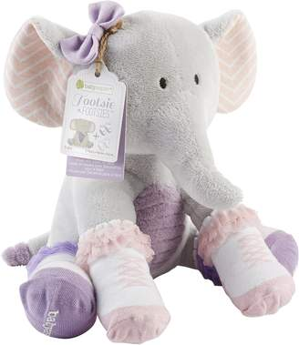 Baby Aspen Tootsie in Footsies Plush Elephant and 2 Pair of Socks for Baby, 0-6 Months
