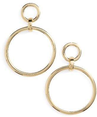 Women's Nordstrom Frontal Hoop Earrings $35 thestylecure.com