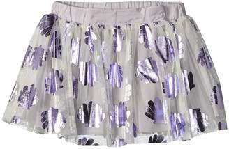 Stella McCartney Honey Tulle Skirt w/ Metallic Seashells Girl's Skirt