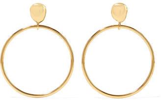 Dinosaur Designs Mineral Gold-plated Hoop Earrings