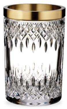 Waterford Lismore Reflection with Gold Band Vase