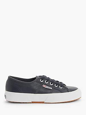Superga 2750 Efglu Plimsolls, Navy Leather