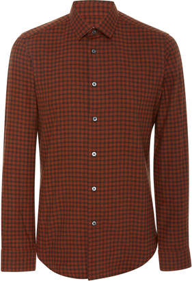 Fioroni Slim-Fit Plaid Cotton-Poplin Shirt