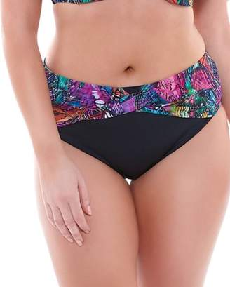 Elomi Kaleidoscope Twist Front Brief Swim Bottom (ES7430) 4X/