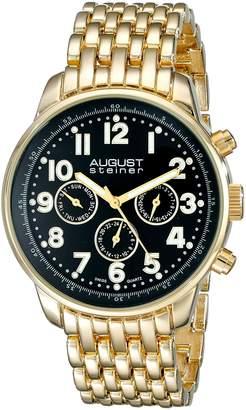 August Steiner Men's AS8147YGB Analog Display Swiss Quartz Gold Watch