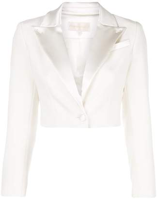Christian Siriano cropped tailored blazer