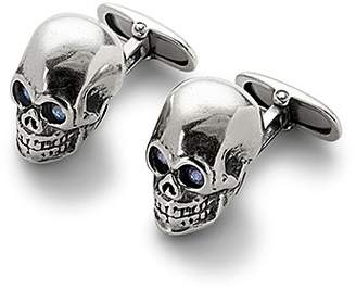 Aspinal of London Sterling Silver Skull Cufflinks