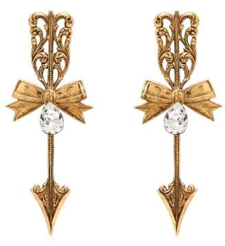 Rodarte Bow And Arrow Earrings - Womens - Gold