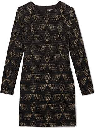 Vince Camuto Glitter Diamond-print Dress