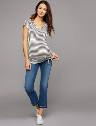 7 For All Mankind Pea Collection Secret Fit Belly B(air) Cropped Boot Maternity Jeans