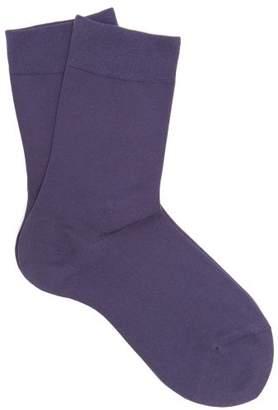 Falke Touch Cotton Blend Socks - Womens - Navy