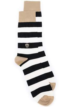 Alexander McQueen striped skull socks