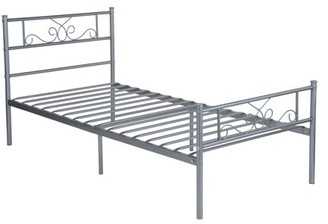 Cheerwing Easy Set-up Premium Metal Bed Frame Platform Box Spring with Headboard and Footboard ,Multiple Size