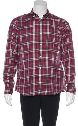 Burberry Check Button-Up Shirt