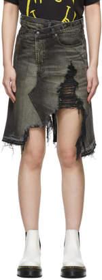 R 13 SSENSE Exclusive Black Denim Norbury Skirt