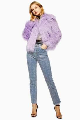 Topshop Diamante Straight Leg Jeans
