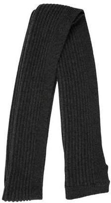 Burberry Wool Rib Knit Scarf