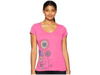 Life is Good Playful Flowers Smooth T-Shirt