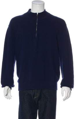 Vince Wool Zip-Up Sweater