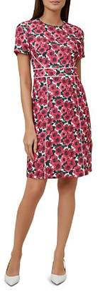 Hobbs London Livia Ladder-Inset Floral Print Dress