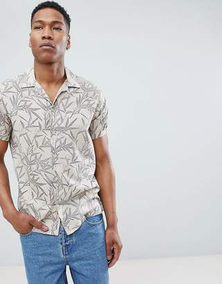 Jack and Jones Revere Collar Short Sleeve Shirt With All Over Print