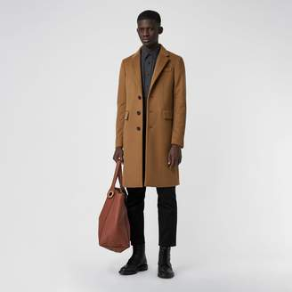 Burberry Wool Cashmere Tailored Coat , Size: 52, Brown