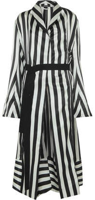 Ann Demeulemeester Striped Silk-satin Robe