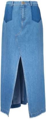 Sea front slit maxi skirt