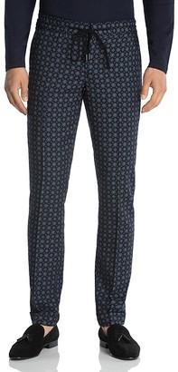 The Kooples Retro Floral Print Slim Fit Trousers $265 thestylecure.com