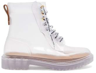 See by Chloe Laced Pvc Ankle Boots - Womens - White
