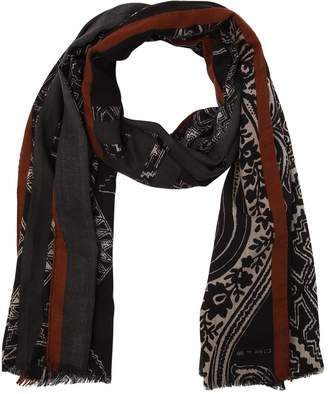 Etro Paisley Wool Blend Scarf