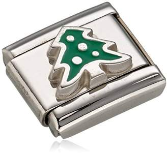Nomination Composable Women's Charm Stainless Steel Enamel Christmas Tree 330204/08