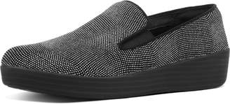FitFlop Superskate Glitter-Dot Suede Loafers
