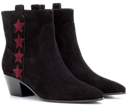 Saint Laurent Rock 40 suede ankle boots
