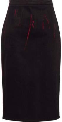 Prada overprinted pencil skirt