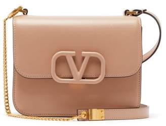 Valentino Small V Sling Leather Shoulder Bag - Womens - Beige